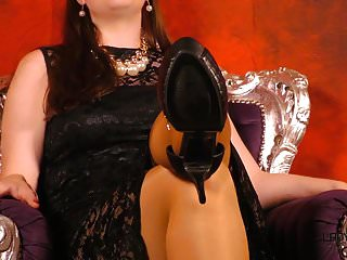 Lesbische Nylon Fuß Sklave