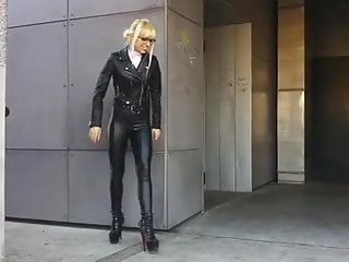 Sasha and dana escorts barrie ontario Dana in leather pants and high heels