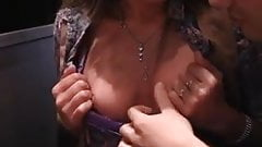 Risky public sex adventure with hot babe
