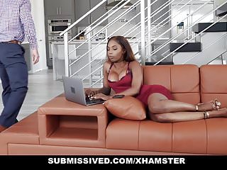 Tied-up tits - Submissived - black teen tied up and fucked by big cock