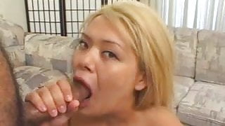 Sexy Chubby Blonde Asian BBC Threesome With Huge Facial
