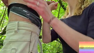 Outdoor Blowjob and Creampie