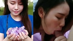 M'sian teen gf Yip Wen Jia loves sucking her bf's fat cock