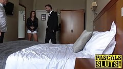 Amirah Adara takes cash and deepthroats Pascal White hard