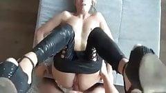 hot blonde sucks and fucks