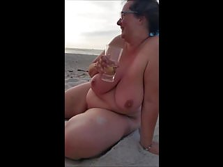Pissed wife Dreamy wife on the beach