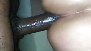 Black dick fucks latin tranny hard