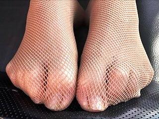 European condom sizes - Linas sexy size 39 fishnet feet
