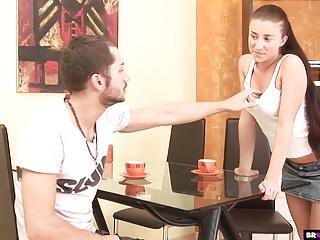 Big boobs liana Busty teen liana fucked hard on kitchen table