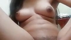 Beautiful Cute Horny Indian Girl Is Pussy fingering With Talking