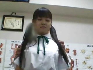 Exam twink Japanese schoolgirl 18 fucked during medical exam