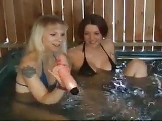 Hot strip test tub - Hot tub lesbians