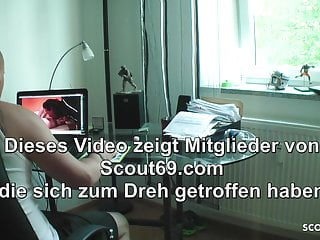 Watch porn videos on phone - German sister catch step bro watch porn and help with fuck