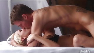 Babes - HOT blonde GF strips off her panties for intense sex