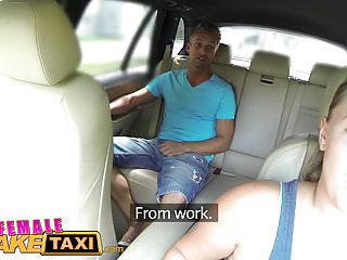 Sexy women talking dirty Female fake taxi busty sexy driver milks studs cock