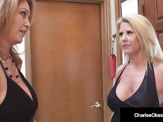 Blonde stripper plays with ass Busty milf charlee chase bangs stripper with hubby
