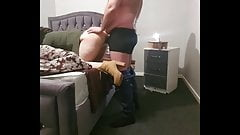first anal Step mom fucked through leggings with 11 inch of dick  erotic