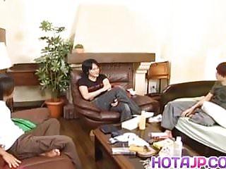 Asian haruki murakami Risa murakami gets tools to lick and uses vibrator before
