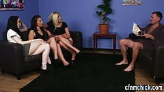 British cfnm dominas jerk naked losers cock