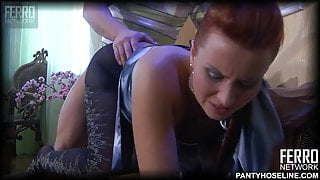 Marianne has rough sex in pantyhose