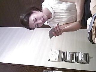 Eating pussy maxi pad - Asian girl with maxi pad at toilet