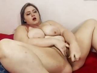 Sperm in vagina with hand Bbw slut poking wet vagina with big sex toy in solo video