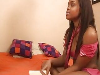 Teens dealing with parenting Ebony teen makes a deal with hairy guy
