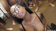 Hot Ebony Lola Marie Bukkake