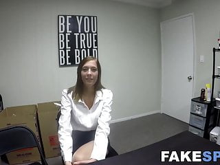 Adult graduation speech Graduate babe poses before fucking at job offering