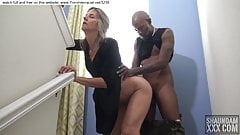 blonde fucked by black guy during party