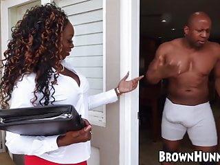 Attractive Black Teenie Pussy Drilled By Her Hung Boyfriend