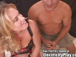 Fucking with electric Thin milf fucked hard with electricity