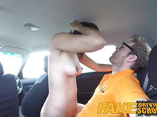Dominant black shemale video clips - Fake driving school three creampie clips with black girls an