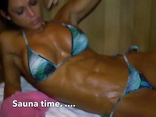 Naked woman at sauna Anita herbert sauna time