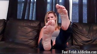 I will step on your face with my perfect feet