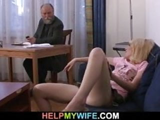 Wife whatches husband fuck her freind - Older husband pays him to fuck her wife