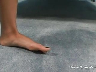 Cute she male cocks - Foot fun with a cute brunette then she gets fucked