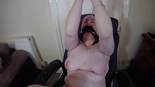 Naked bondage Tied and gagged Orgasm