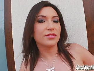 Bent over fuck movies - Asstraffic brunette is bent over and fucked in the ass