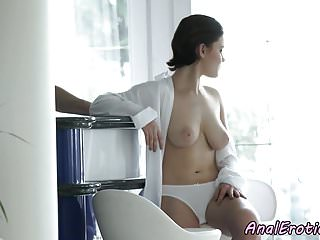 Amateur assfucked Alluring amateur assfucked in cowgirl pose