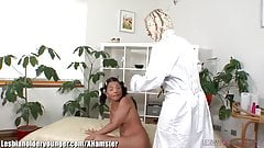Lesbian MILF toys Teen in Shaved Pussy