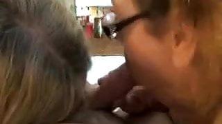 Amateur Mature Women Sharing A Blowjob
