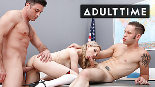 Horny Hunks Fuck Until Madison Mia Is Ready For Facial