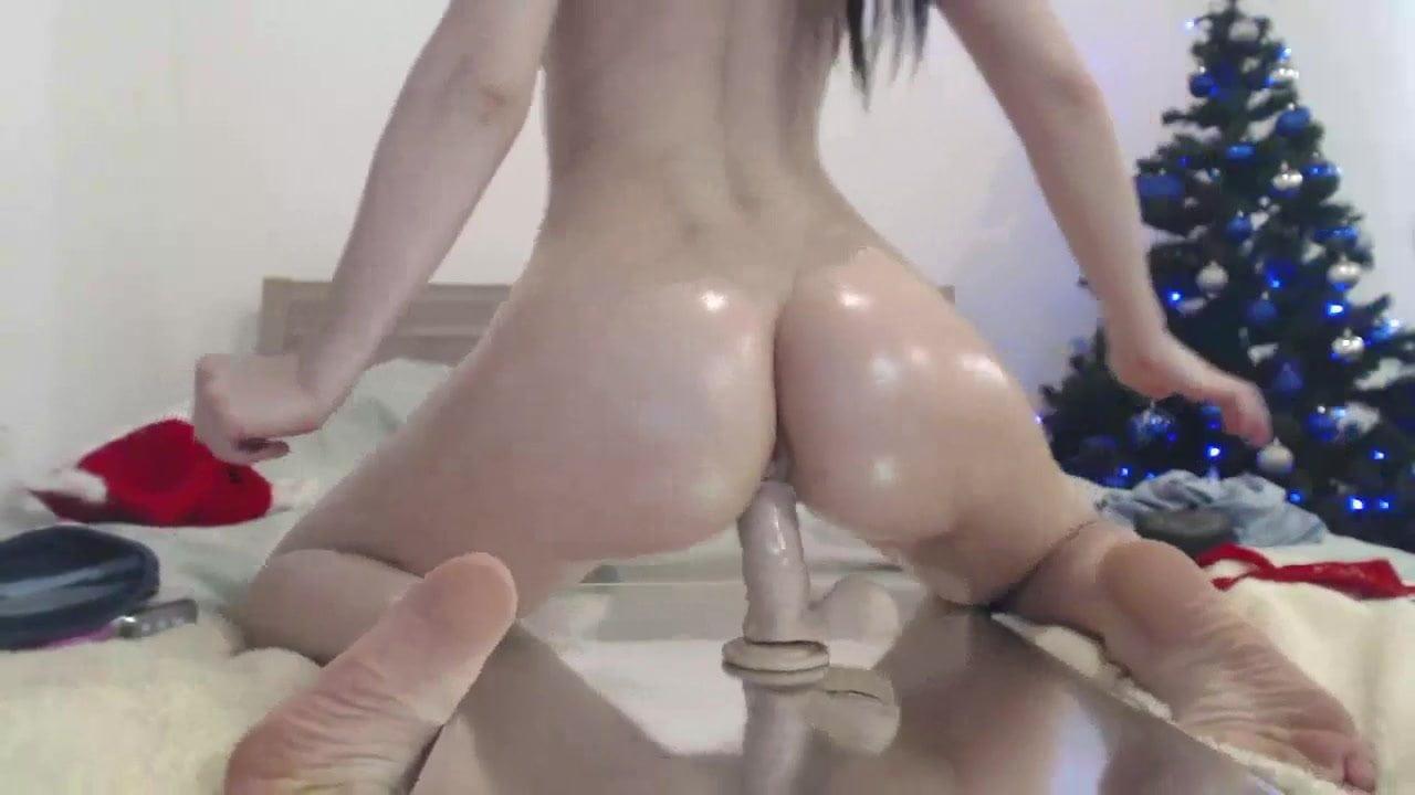 Girl riding dildo sexy cum