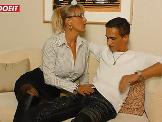 Mature with mature - Hardcore german amateur fuck with mature blondie