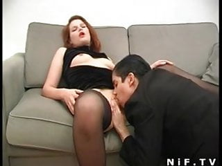French cum lesbian sex Two french sluts sharing a cock and hot cum