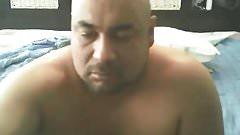 Chunky latin bald wanking