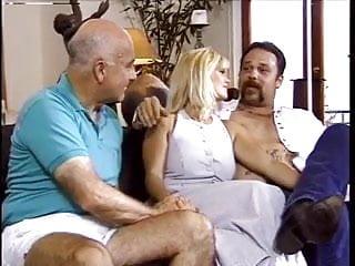 Men fucking milf - Husband watch his blonde wife fucked by 2 men