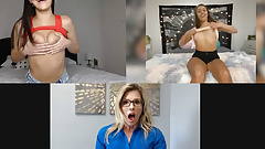 Emily Willis, Cory Chase & Gia Derza are showing their bodies