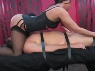 Bdsm electrodes Mistress uses tied slave